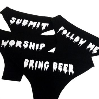 submit worship follow me bring beer panties