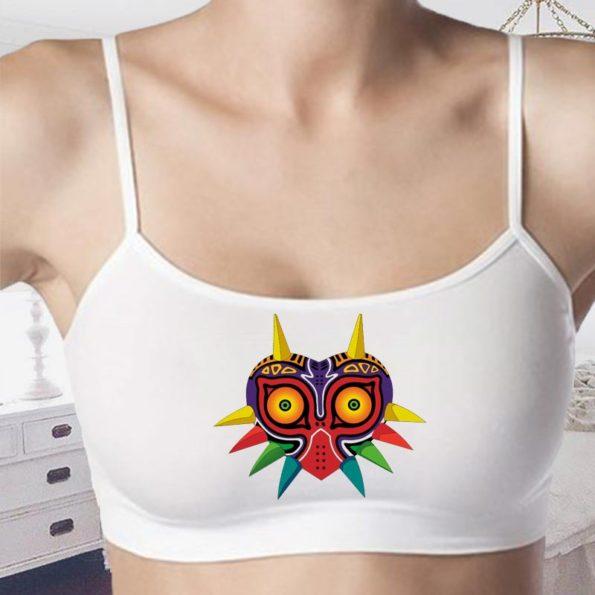 Majora's Mask Crop Tops - Bralettes - Zelda Sports Bra