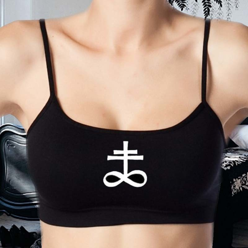 Leviathan Cross Bralettes - Satans Cross Croptops
