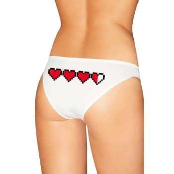 Pixel Hearts Panties - Gamer Girl Lingerie - Undies