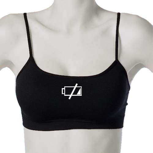 Battery Off Bralette - Battery Low Seamless Top