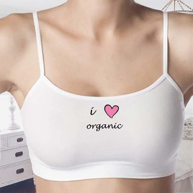 I Love Organic Bra- Seamless Bra - Stretch Tank Top Underwear