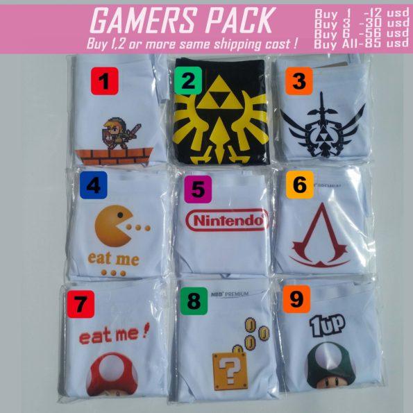 gamers pack panties