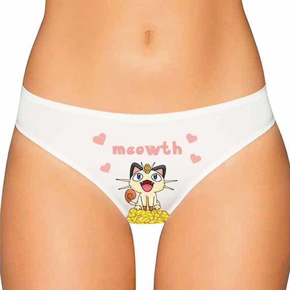 Meowth Pokemon Panties - Pokemon Underwear, Pokemon Lingerie