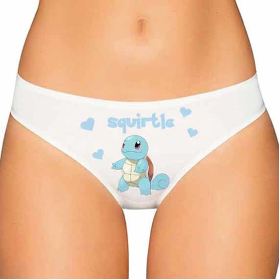 Squirtle Panties - Pokemon Panties - Pokemon Underwear