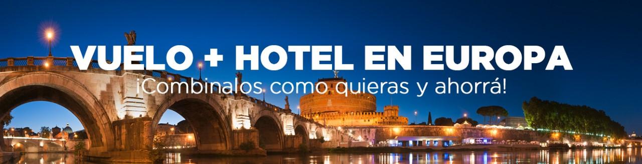 Vuelo + Hotel a Europa