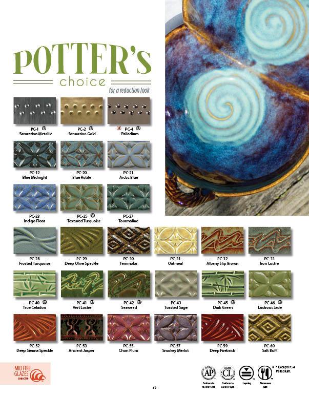 Pc Potters Choice High Fire Glazes Amaco