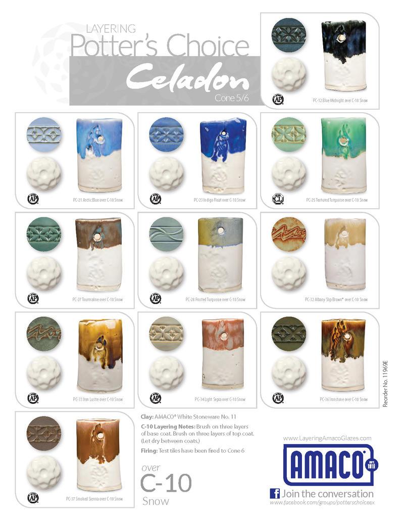 C Celadon High Fire Glazes Glazes Amp Underglazes