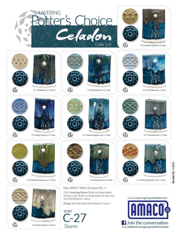 C) Celadon : High Fire Glazes : Glazes & Underglazes