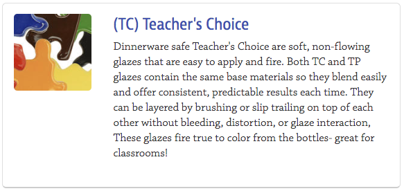 Teacher's Choice Glazes