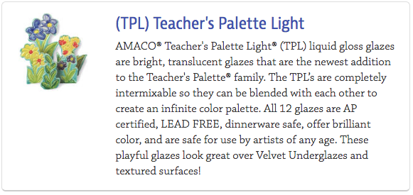 Teacher's Palette Light Glazes