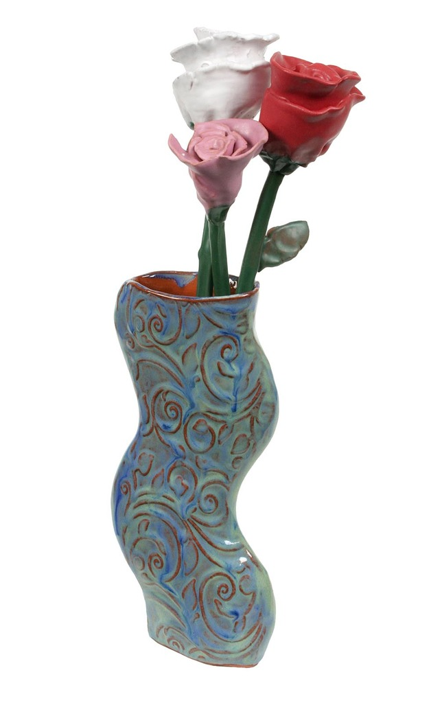 Large technique sheet 57 vase roses 2 pp