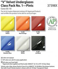 Class Packs and Sets > Velvet Underglaze Class Pack: 6 Pints