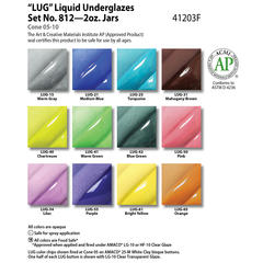 Class Packs and Sets > Liquid Underglaze (LUG) Set #812