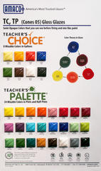 "Glaze Charts > Chart ""TC"" Teacher's Choice & ""TP"" Teacher's Palette Glazes"