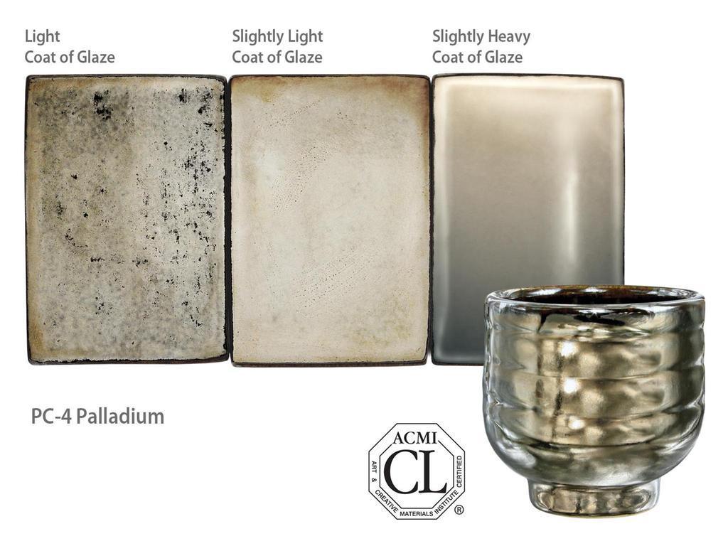 1 pt Palladium PC-4 AMACO Potters Choice Lead-Free Glaze