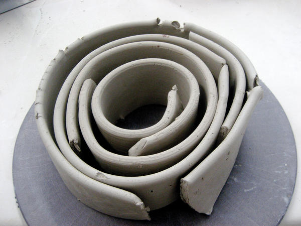 Extruded clay