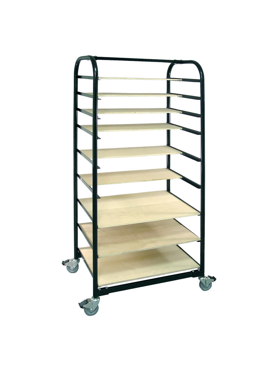 Brent Ware Cart Ex With Shelves And Plastic Cover