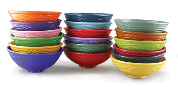Celebration glazes stacked bowls