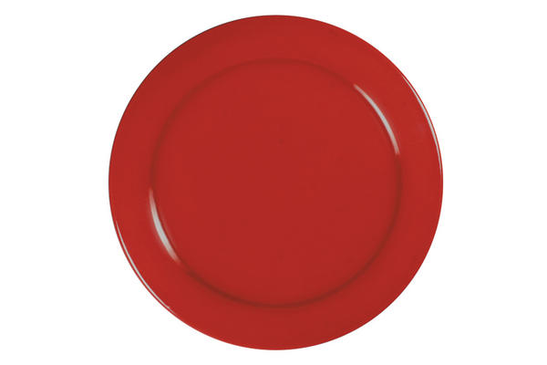 Hf 165 scarlet red round plate sized