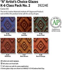 Low Fire Glazes > Class Pack: (A) Artists Choice No .2