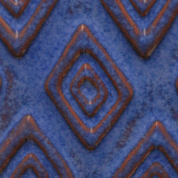 A 24 exotic blue tribal tile chip