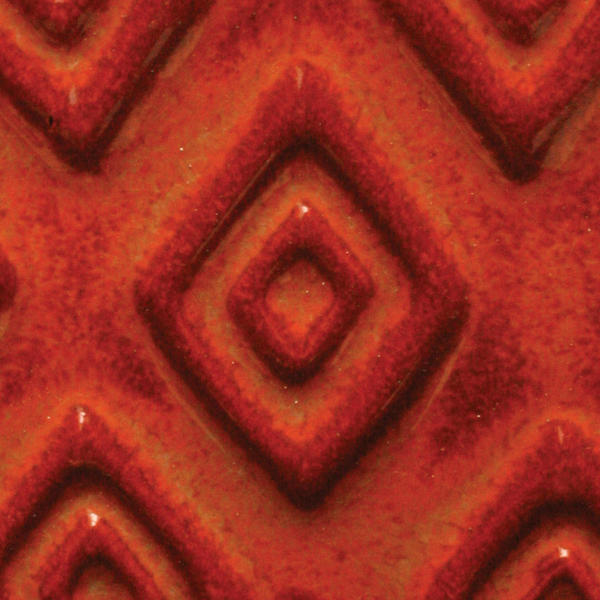 A 66 burnt orange tribal tile chip