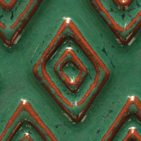 A 40 seafoam green tribal tile chip