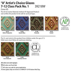 Low Fire Glazes > Class Pack: (A) Artists Choice No. 1