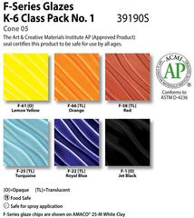 Low Fire Glazes > Class Pack: (F) F-Series  No. 1