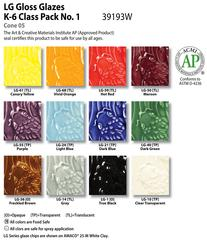 Low Fire Glazes > Class Pack: (LG) Low Fire Gloss No. 1