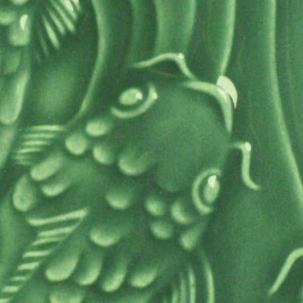 Lg 40 dark green 2x2 fish tile