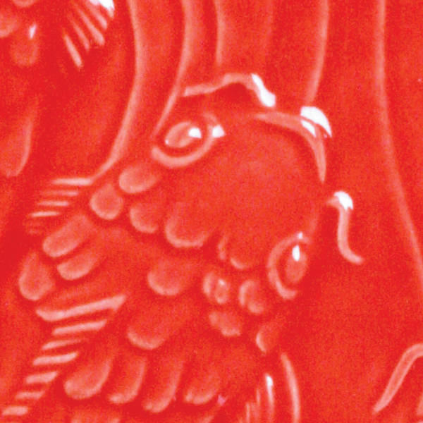 Lg 59 hot red 2x2 fish tile