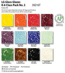 Low Fire Glazes > Class Pack: (LG) Low Fire Gloss No. 2
