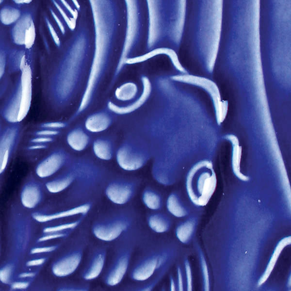Lg 21 dark blue 2x2 fish tile