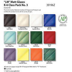 Low Fire Glazes > Class Pack: (LM) Low Fire Matt No. 3