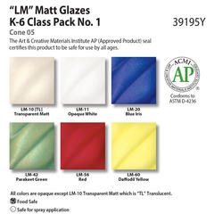 Low Fire Glazes > Class Pack: (LM) Low Fire Matt No. 1