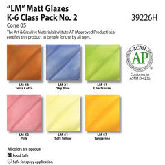 Low Fire Glazes > Class Pack: (LM) Low Fire Matt No. 2