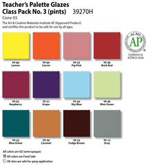 Low Fire Glazes >  Class Pack: (TP) Teacher's Palette No.3