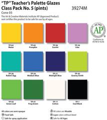 Low Fire Glazes > Class Pack: (TP) Teacher's Palette No.5