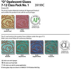 Low Fire Glazes > Class Pack: (O) Opalescents