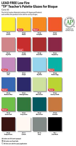 Teachers palette glazes color chart 2014 new colors 2048px