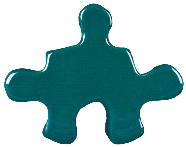 Tp 22 blue green puzzle cutout