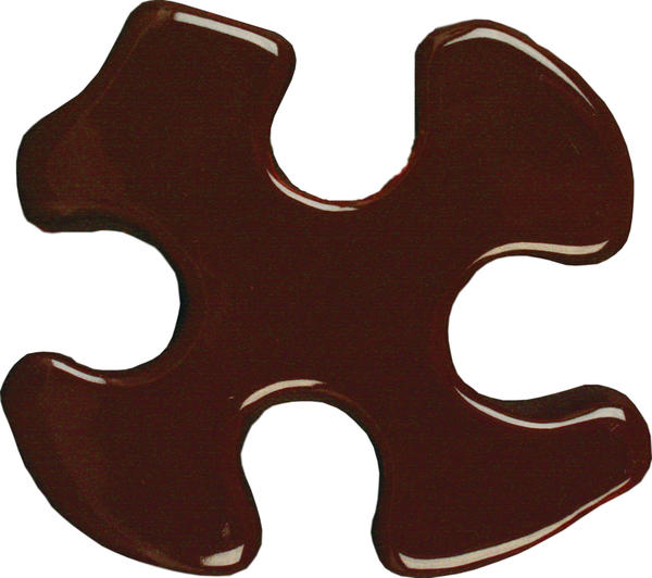 Tp 32 fudge brown puzzle cutout