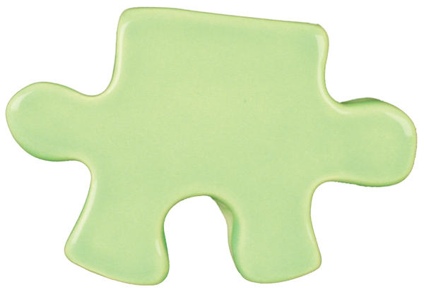 Tp 40 mint green puzzle cutout