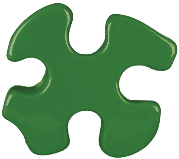 Tp 41 frog green puzzle cutout