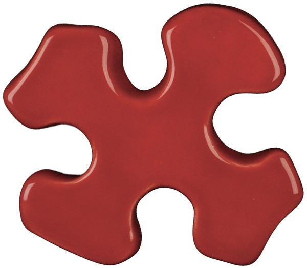 Tp 58 brick red puzzle cutout
