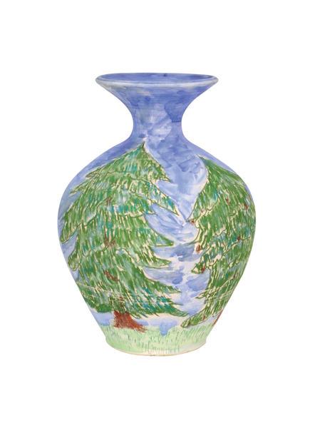 Chalk smug trees vase amaco lab sized