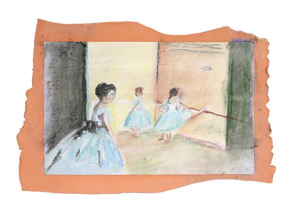 Crayons ballerina tile