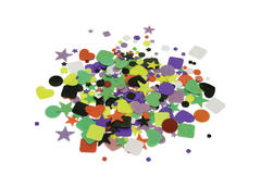 Glass Supplies > Glass Geometric Shapes Assorted 4oz